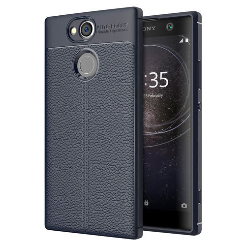 Flexi Litchi Texture Slim Case for Sony Xperia XA2 - Dark Blue